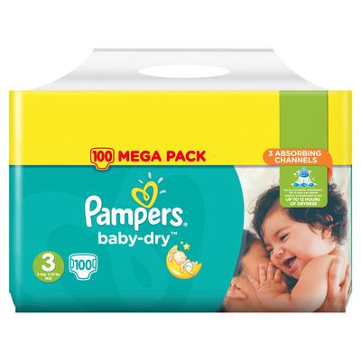 Pampers Baby dry luiers mega
