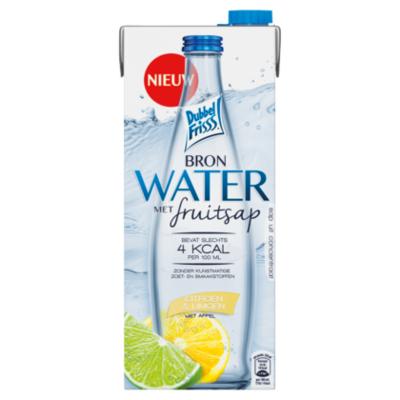 Dubbelfrisss Bronwater citroen & limoen