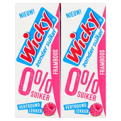 Wicky Framboos Zonder Suiker 10 x 0,20 L