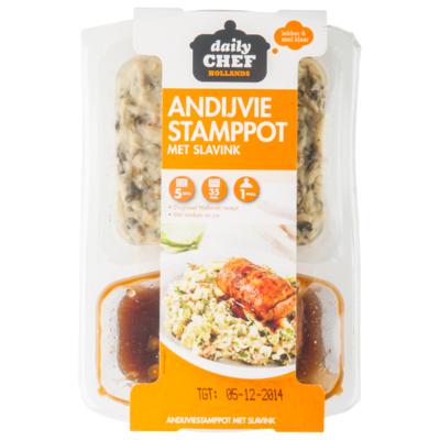 Huismerk Andijvie stamppot met slavink