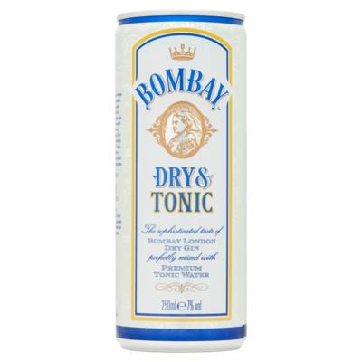 Bombay Dry Gin en Tonic 250 ml