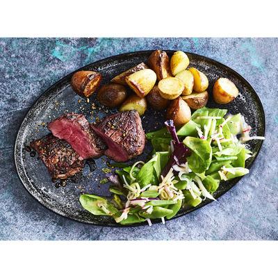 Allerhande Box Biefstuk bonen-radijssalade & aardappel