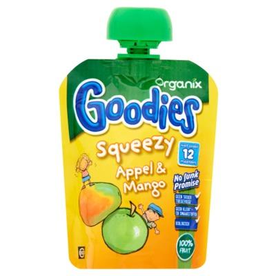 Organix Goodies Squeezy appel & mango 12+M 90 gram
