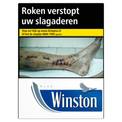 Winston Sigaretten blue box