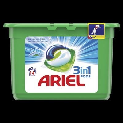 Ariel wascapsules 3 in 1 pods alpine