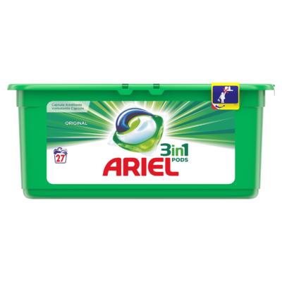 Ariel 3in1 Pods Original Wasmiddelcapsules 27 Wasbeurten