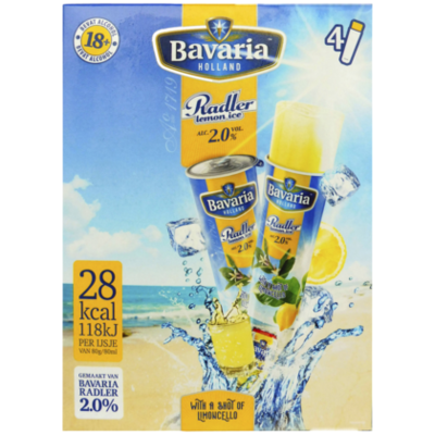 Bavaria Radler ijs 2.0 popsicle limoncello