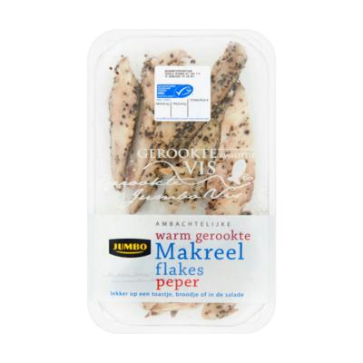 Huismerk Ambachtelijke Warm Gerookte Makreelflakes Peper