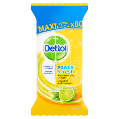 Dettol Power & fresh multi reiniging doekjes