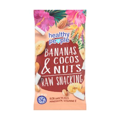 Healthy People Bananas Cocos & Nuts Raw Snacking