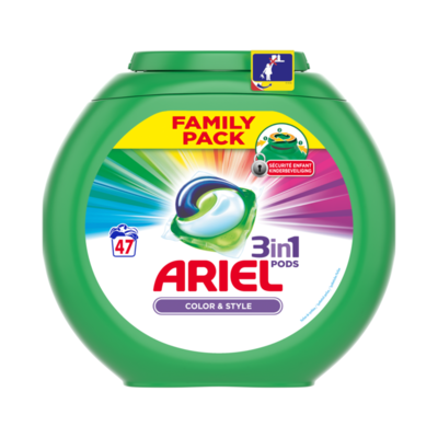 Ariel 3 in 1 Pods Kleur & Stijl Wasmiddelcapsules