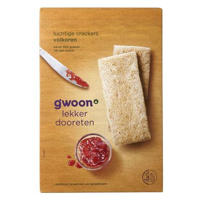 G'woon Luchtige Crackers Volkoren