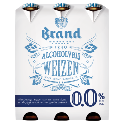Brand Weizen 0.0 Alcoholvrij Bier Fles 6 x 30 cl