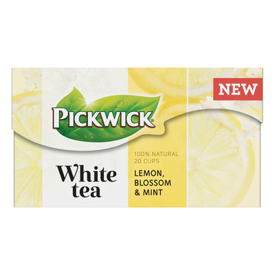 Pickwick White lemon, blossom & mint witte thee