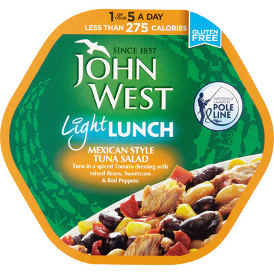 John West Light lunch Mexican style