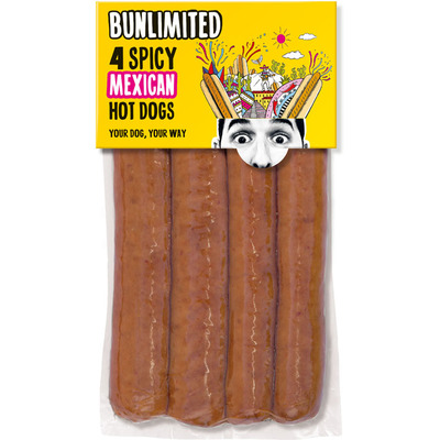 Bunlimited 4 Spicy Mexican hot dogs