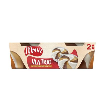 Mona Vla trio karamel/ chocolade/ slagroom