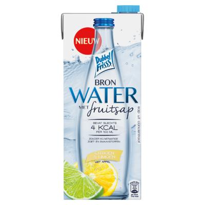 DubbelFrisss Bronwater Citroen & Limoen met Appel 1,5 L