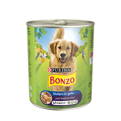 Bonzo stukjes in gelei rund en hart 800 gram
