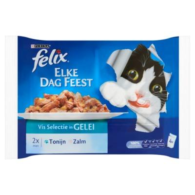 Felix Elke Dag Feest vis selectie in gelei 4 x 100 gram