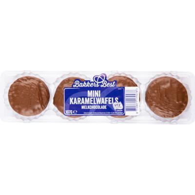 Bakkers Best Mini choco caramel koekjes melk chocolade