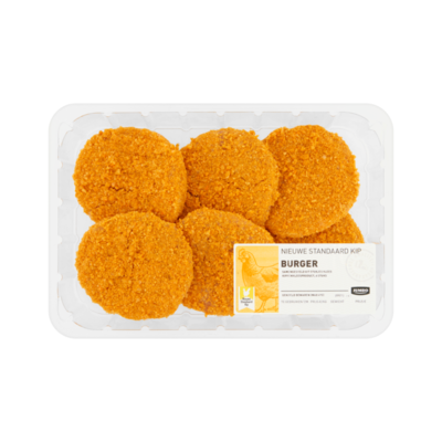 Huismerk Nieuwe Standaard Kip Burger 6 Stuks