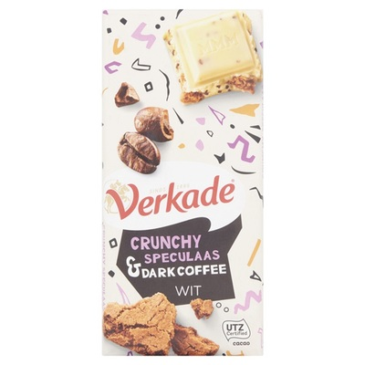 Verkade wit crunchy speculaas & dark coffee