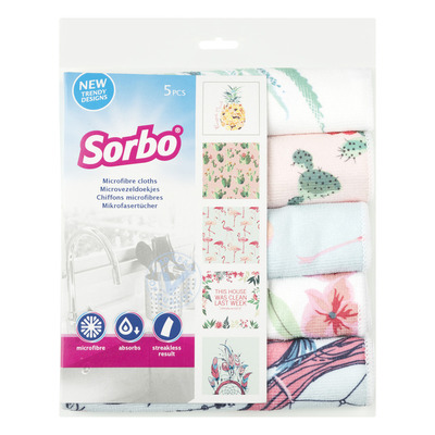 Sorbo Microvezeldoek tropical print