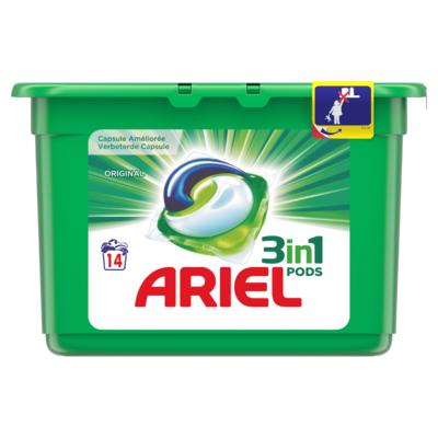 Ariel 3in1 Pods Original Wasmiddelcapsules 14 Wasbeurten