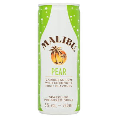 Malibu Pear Caribbean Rum with Coconut & Fruit Flavours 250 ml