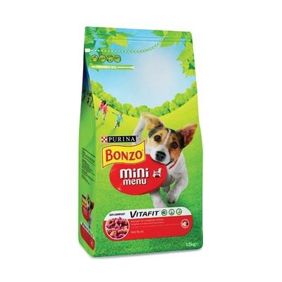 Bonzo Hondenvoer Mini Menubrokken Met Rund