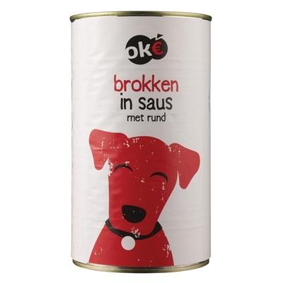 Budget Huismerk hondenvoer brokken in saus met rund