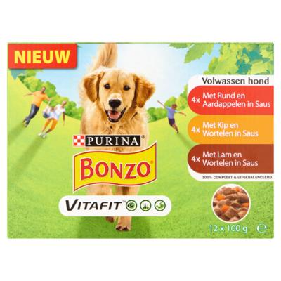 Bonzo Bonzo Vitafit Volwassenen Hond 12 x 100 g
