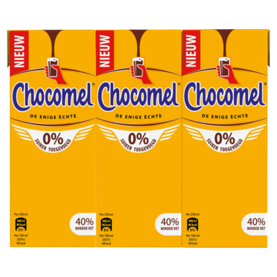 Chocomel 0% suiker toegevoegd 6x 200 milliliter