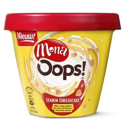 Mona Oops! lemon cheesecake