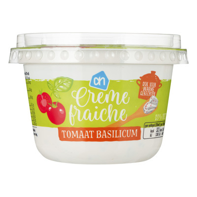 Huismerk Creme fraiche light tomaat basilicum