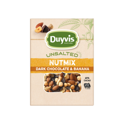 Duyvis Unsalted Noten Nutmix Dark Chocolate & Banana