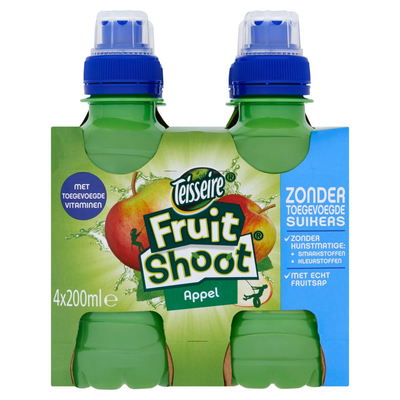 Teisseire Fruit Shoot Appel 4 x 200 ml