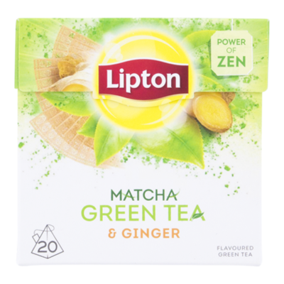 Lipton Green matcha ginger thee