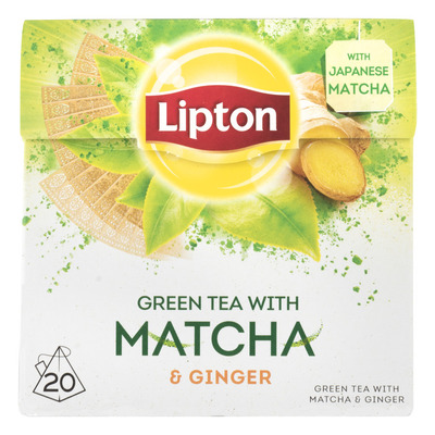 Lipton Green matcha gin-seng kop