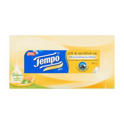 Tempo Soft & Sensitive Box 4-Laags Tissues