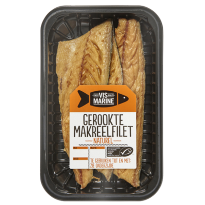 Vis Marine Gerookte makreelfilet naturel MSC