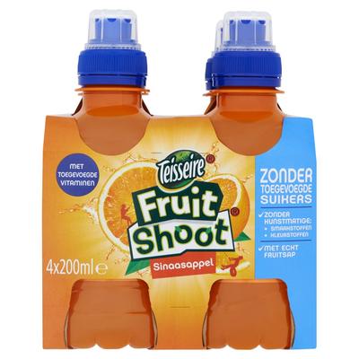 Teisseire Fruit Shoot Sinaasappel 4 x 200 ml