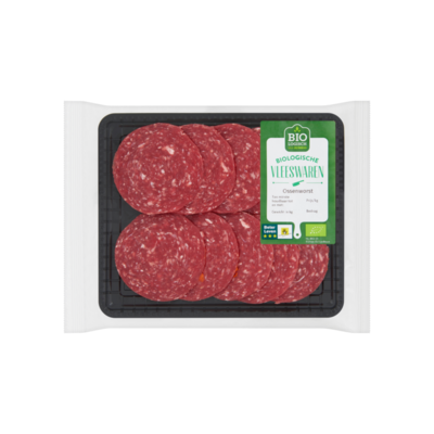 Huismerk Biologische Vleeswaren Ossenworst
