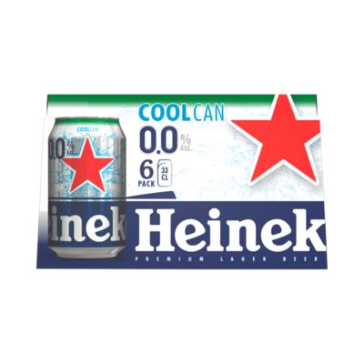 Heineken 0.0 Alcoholvrij Bier Coolcan