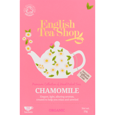 English Tea Shop Tea organic biologisch chamomile 20 zakjes