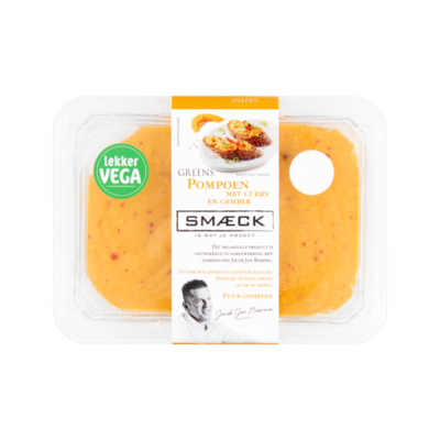 Smaeck Greens Pompoen met Curry en Gember