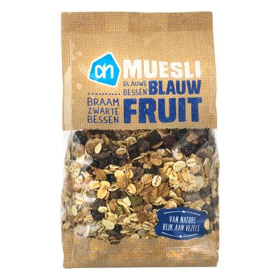 Huismerk Muesli blauw fruit