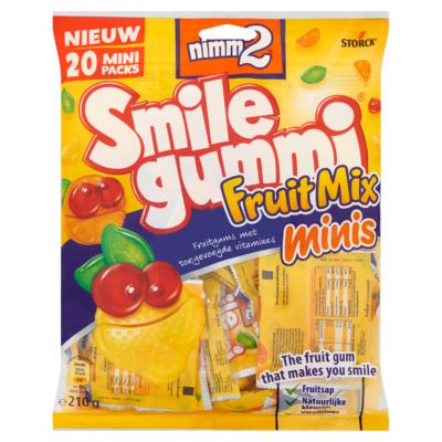 Nimm2 Smilegummi Fruitmix Minis 210 g