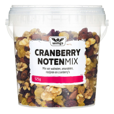 Wings Luxe cranberry notenmix